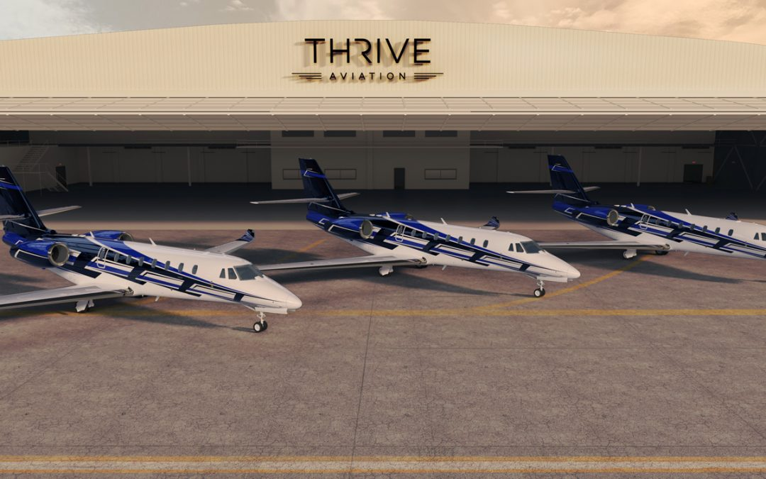 Multi-aircraft Cessna Citation business jet delivery announced by Textron Aviation and Thrive Aviation